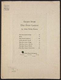 The Free Lance: Selections [sheet music]