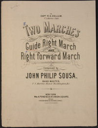 Guide Right March [sheet music]