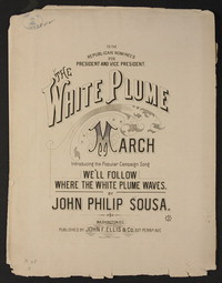 White Plume [sheet music]