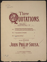 Three Quotations: No. 3. In darkest Africa [sheet music]