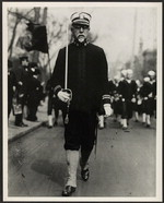 Sousa marching with sword [photograph]