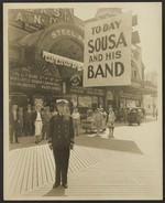 Sousa in front of the Steel Pier [photograph]