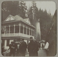 Band members at Shasta Soda Springs [photograph]