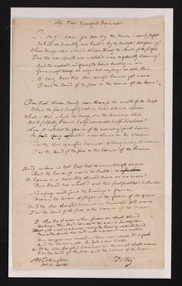 The star spangled banner [manuscript]