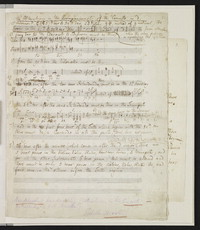 The alterations in the accompaniments of the Concerto in d [manuscript score]