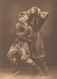 Photograph of Bronislava Nijinska and V. Karnetzky in Polovtsian Dances from Prince Igor, n.d. [photograph]