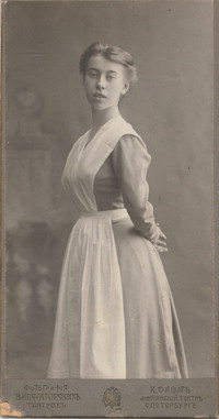 Photograph of Bronislava Nijinska, graduation picture, 1908 [photograph]