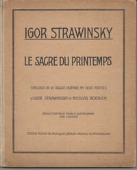 Music score of Le Sacre du Printemps (Igor Stravinsky), with choreographic notes by Marie Rambert, Nijinsky's assistant [choreographic notes].