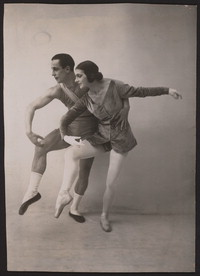 Photograph of Anatole Vilzak and Vera Nimchinova in Les Biches, 1924, no photographer.