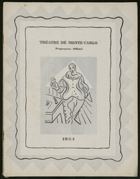 Programme Officiel, Théatre de Monte-Carlo [program for 1923-1924 season] [concert program].