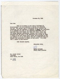 [Letter from Samuel Barber to Harold Spivacke, November 21, 1960] [correspondence]