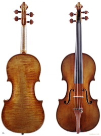 Image: Violins, front and back view