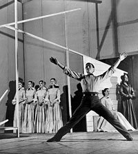 Image: Erick Hawkins in the first production of Appalachian Spring