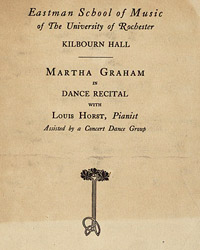 Martha Graham in dance recital, May 27, 1926 [concert program]