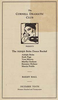 The Cornell Dramatic Club Presents The Adolph Bolm Dance Recital