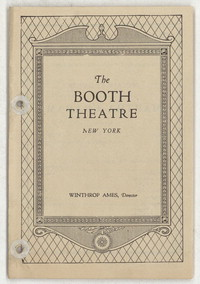 [Martha Graham, Booth Theatre, January 20, 1929] [concert program]