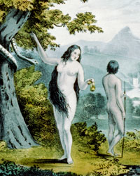 Adam and Eve in the Garden of Eden, [New York]: N. Currier, 1848.