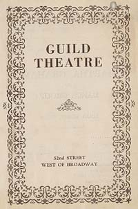 [Martha Graham, Guild Theatre, November 20, 1932] [concert program].