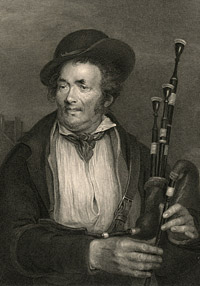 The Bagpiper by Robert Charles Bell, after a painting by Sir David Wilkie, 19th century