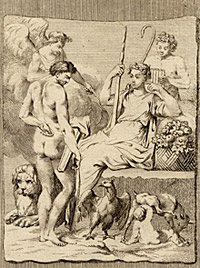 Hercules and Telephus by an unknown artist, after an etching by Charles-Nicolas Cochin the younger, 18th century
