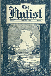 The Flutist, cover of magazine, January 1921