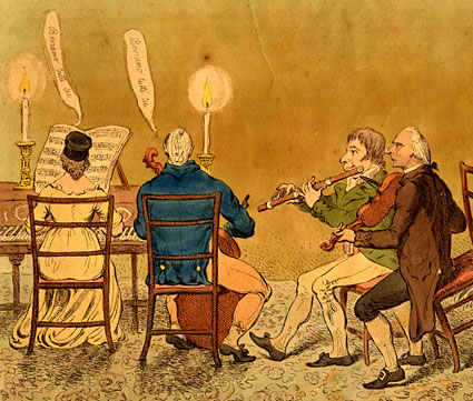 Detail from A Country Concert; - or - an Evenings Entertainment in Sussex, by James Gillray, 1798