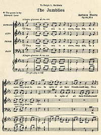 The Jumblies (Op. 68, No. 4), 1908 by Arthur Foote