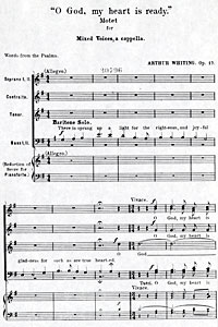 O God, My Heart is Ready, Op. 17, 1899, by Arthur B. Whiting, 1861-1936.