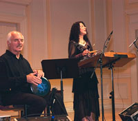 Sophia Bilides and Mike Gregian performing Smyreika songs at  the Library of Congress