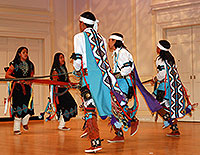 The Dineh Tah' Navajo Dancers of Albuquerque, New Mexico, recorded at the Library of Congress in 2005.