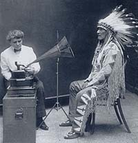 Image: Francis Densmore and a Blackfoot Chief