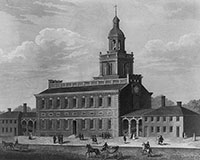 Image: The state-house in Philadelphia 1776