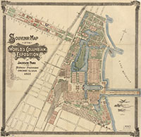 Souvenir map of the World's Columbian Exposition at Jackson Park and Midway Plaisance, Chicago, Ill, U.S. A. 1893