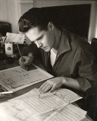 Ned Rorem, 1958. Ned Rorem Collection, Music Division