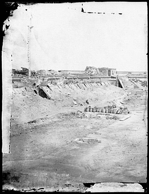 [Fort Pulaski, Ga. Interior view of rear parapet]