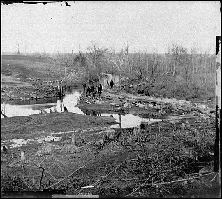 [Cub Run, Va.  View with destroyed bridge]