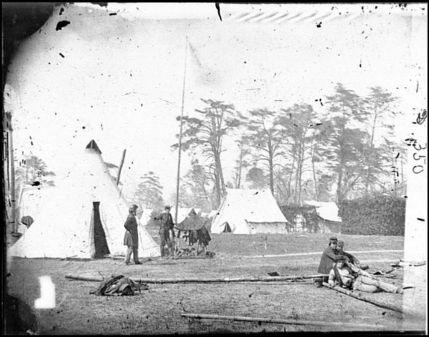 [Yorktown, Va., vicinity. Gen. George B. McClellan's tent, Camp Winfield Scott]
