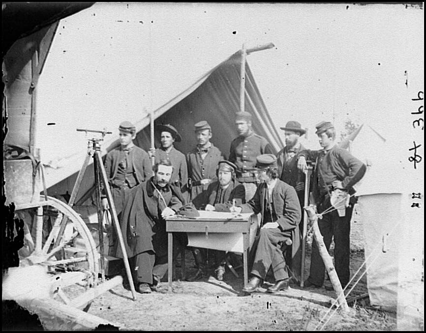 [Yorktown, Va., vicinity. Topographical engineers, Camp Winfield Scott]