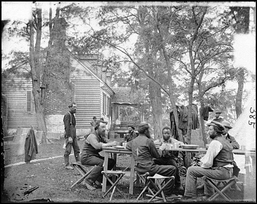 [Cumberland Landing, Va. Secret Service men at Foller's House]