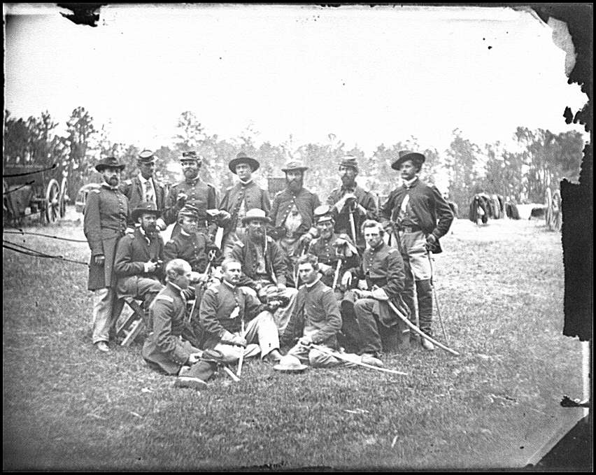 [Fair Oaks, Va., vicinity. Brigade officers of the Horse Artillery commanded by Lt. Col. William Hays]
