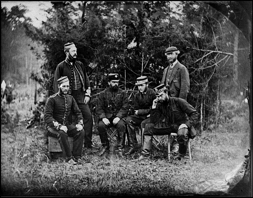 [Yorktown, Va., vicinity. English officers, Camp Winfield Scott]
