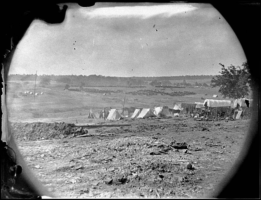 [Spotsylvania Court House, Va., vicinity. View from Beverly house looking toward Spotsylvania Court House]