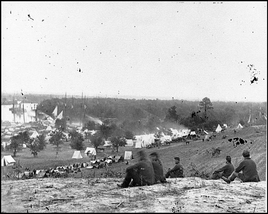 [Cumberland Landing, Va. Federal encampment on Pamunkey River, Va.]