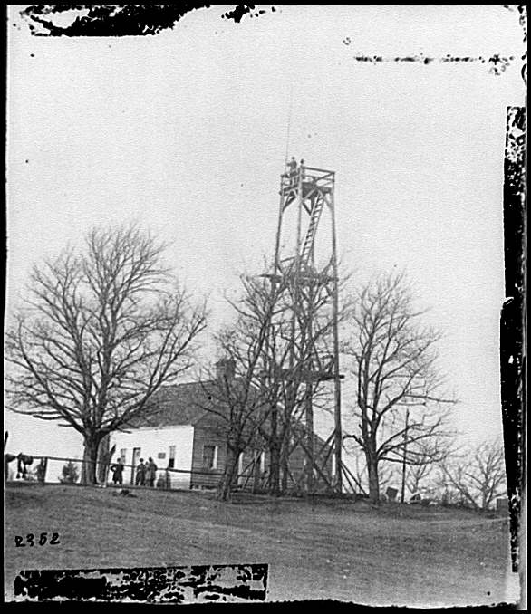 [Petersburg, Va. Signal tower at 14th New York Heavy Artillery headquarters]