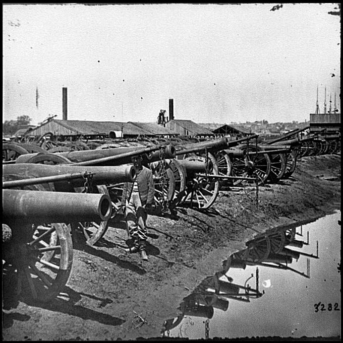 [Richmond, Va. Captured siege guns at Rocketts; different view]