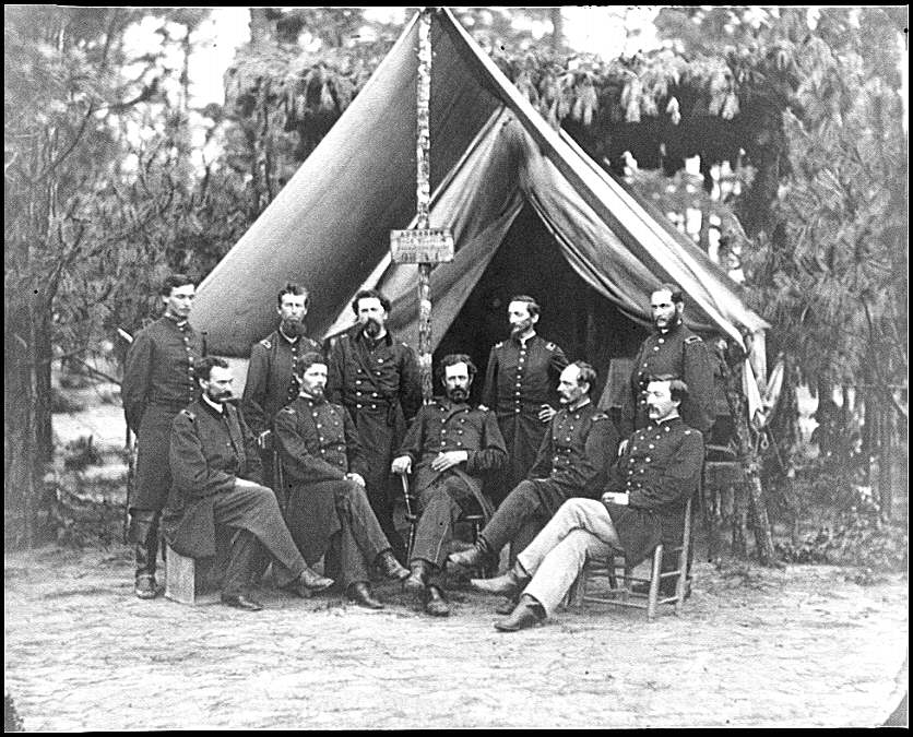 [Petersburg, Va. Surgeons of 3d Division before hospital tent]