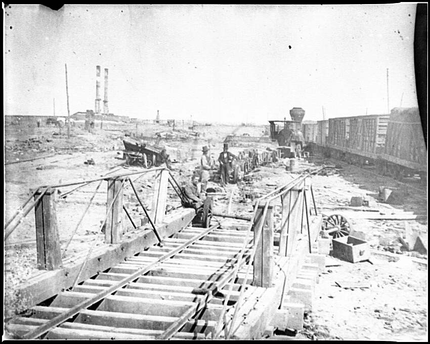 [Manassas, Va. Orange and Alexandria Railroad wrecked by retreating Confederates]
