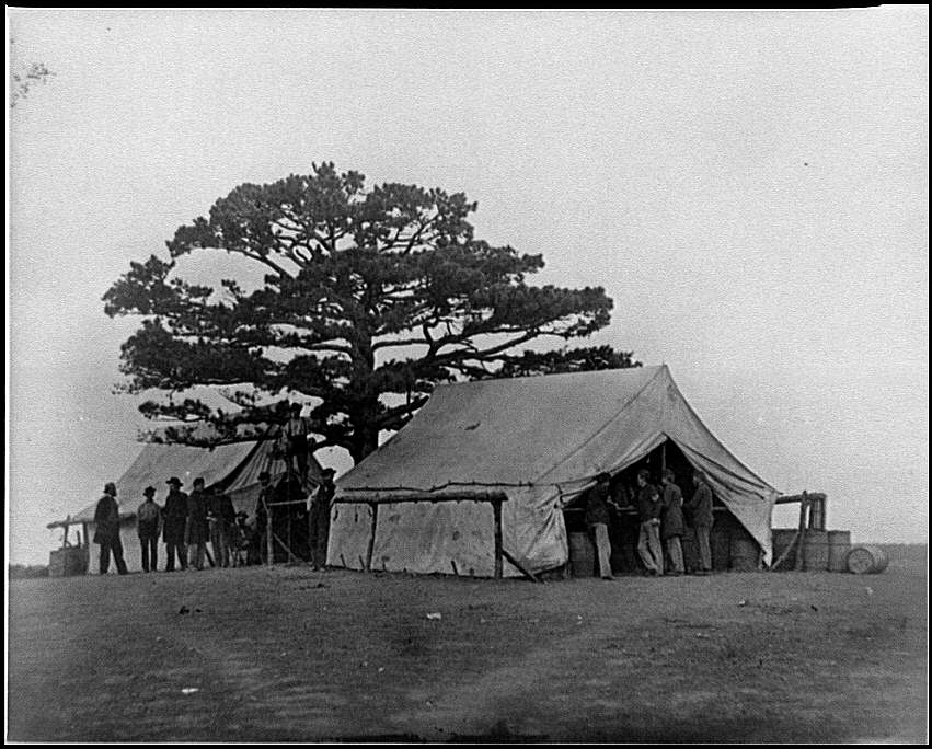 [Bealeton, Va.  Sutler's tent at Army of the Potomac headquarters]