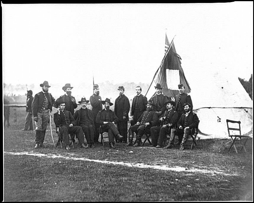 [Culpeper, Va. Brig. Gen. Henry Prince of the 2d Division, 3d Corps, and staff]