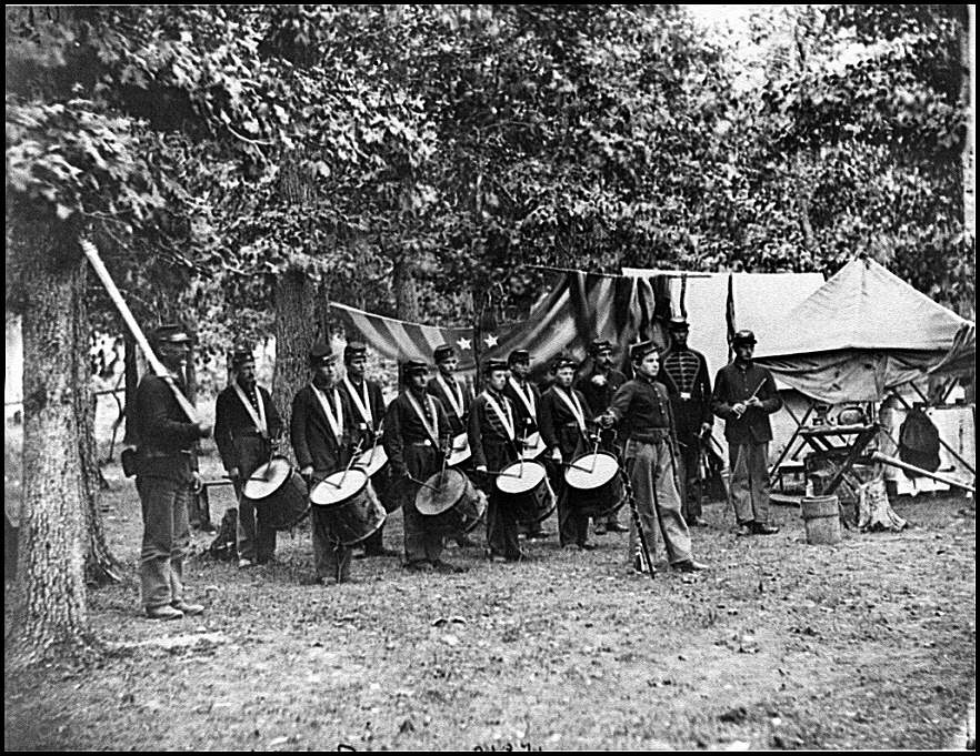 [Bealeton, Va. Drum corps, 93d New York Infantry]